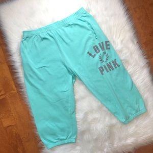 VS PINK crop sweats Capri joggers